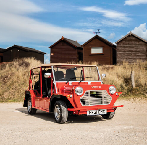 Michael Young revives James Bond's iconic car Moke for the 21<sup>st</sup> century