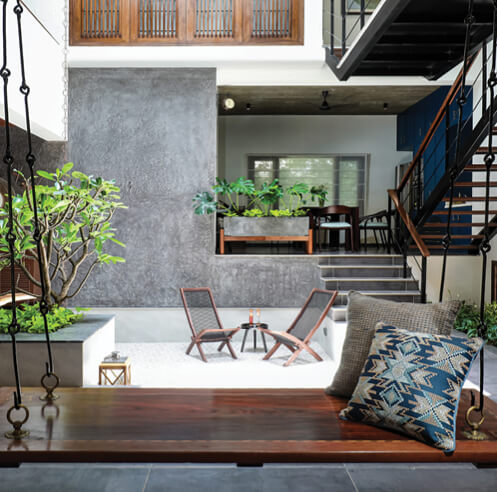 Studio Context Architects creates a light-filled house around a courtyard in Chennai