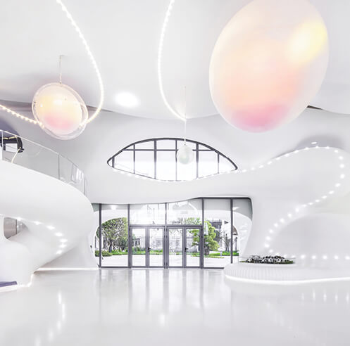 X + Living sets a fairytale interior for Zi Ling Changxing Kindergarten in China