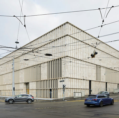 David Chipperfield's striated extension of the Kunsthaus Zurich opens to the public