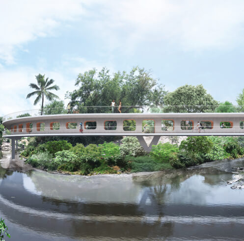 OMA New York's Jojutla bridge in Mexico enters development phase