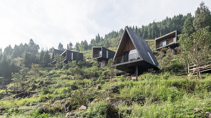 Nature is nourished in this timber hotel in China by ZJJZ