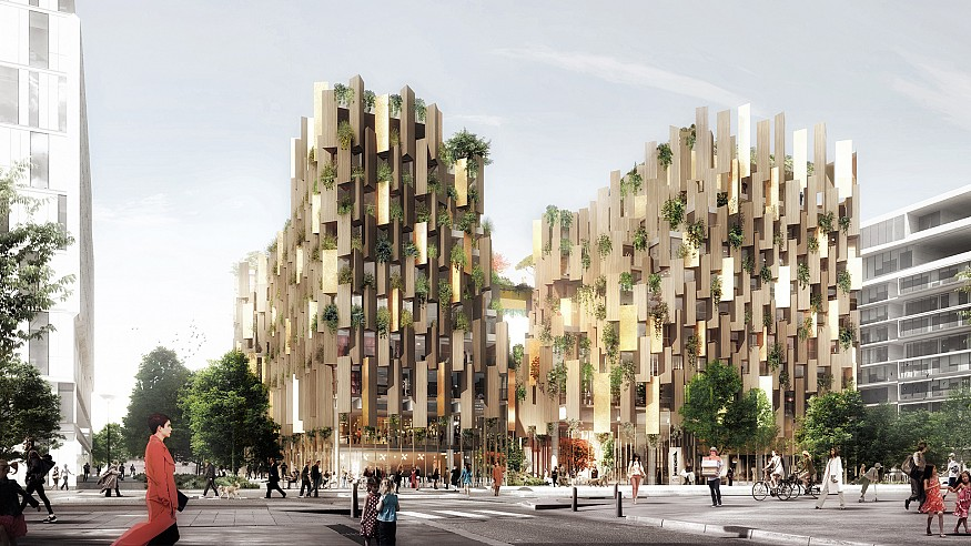 Kengo Kuma punctuates the city fabric in Paris with green design