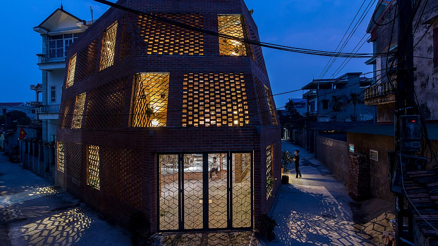 It's all about the sun, wind, rain, and bricks in this Vietnamese residence