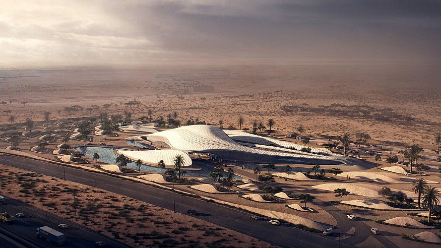 Waste-management facility in UAE gets a coat of opulence by ZHA