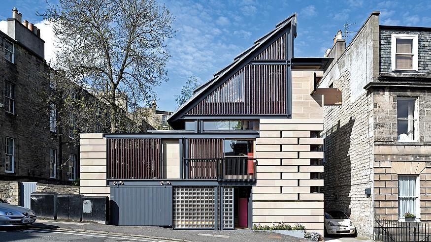 Richard Murphy designs a modern home for himself in Edinburgh