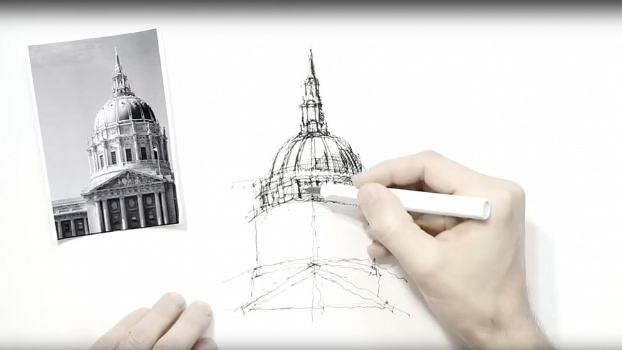Sketching Domes – a drawing tutorial by Dan Hogman