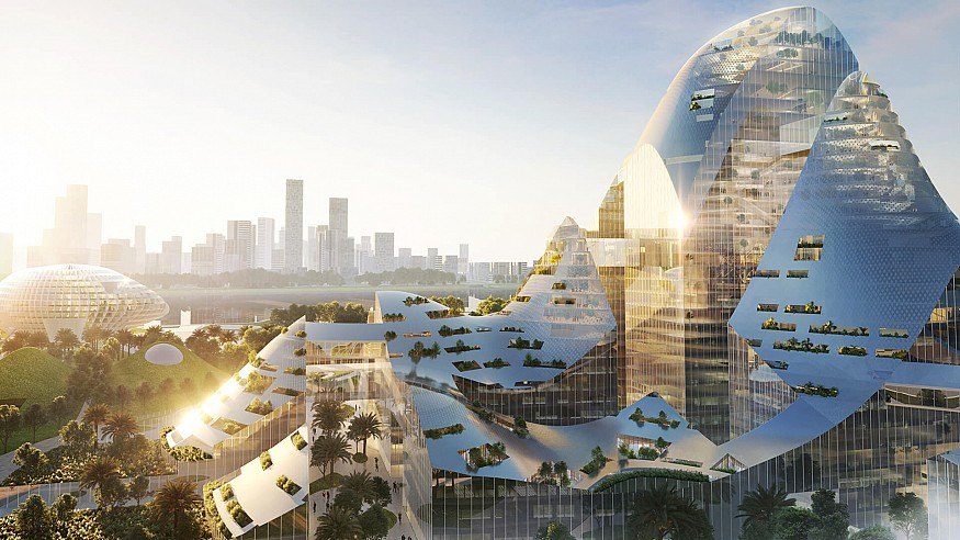 MVRDV reveals smart city district for Tencent headquarters in Shenzhen, China