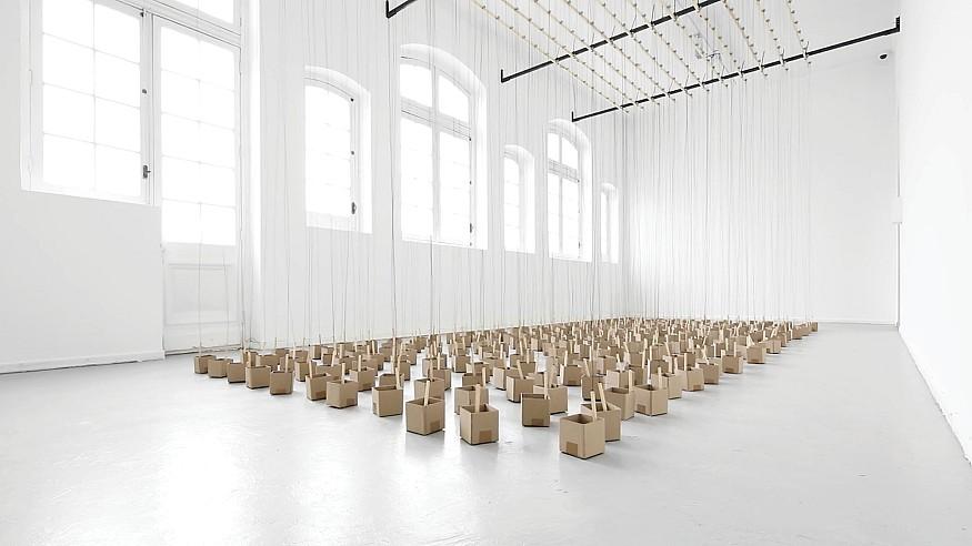 Swiss artist Zimoun shows us a new way to experience sound