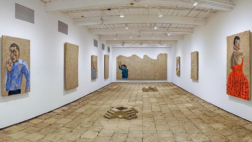 Rafa Esparza's exhibition transforms MASS MoCA's white walls into a 'brown-scape'