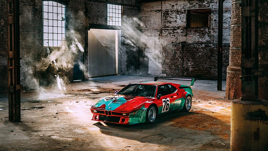 Cars and industrial surfaces that make artistic 'canvases'