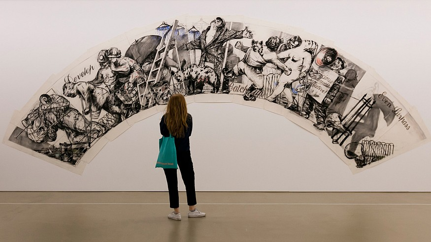 William Kentridge exhibits graphic art and films from the 70s to 90s, in Basel