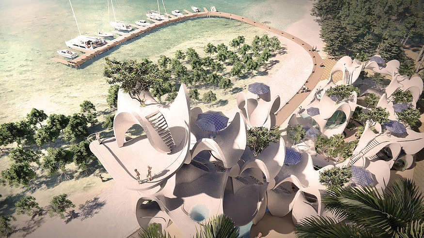 Cagbalete Sand Clusters consists of prefabricated hyperbolic structures