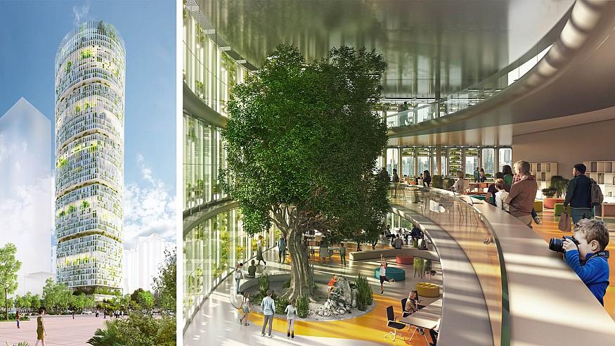 Carlo Ratti Associati imagines Jian Mu Tower as a hydroponic farmscraper in Shenzhen