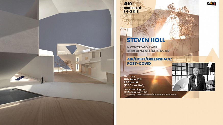 Steven Holl to be in conversation with Durganand Balsavar