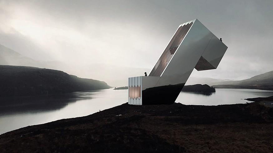 NYDE Studio designs a diagonal dwelling set at 55 degrees for solar optimisation