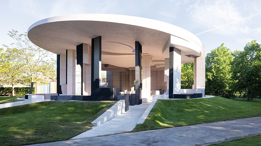 Serpentine Pavilion 2021 by Counterspace honours community spaces in London