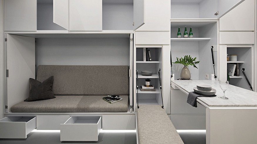 Smart, adaptable furniture concepts using ingenious, modular design