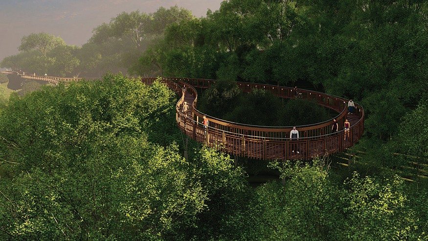 IMK Architects imagine Malabar Hill Forest Trails winding within woods in Mumbai, India
