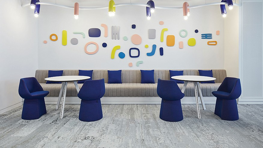 Roar's cheery workspace interiors for Early Childhood Authority champions child's play