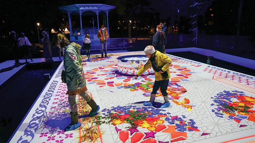 Immersive Jardin de lumière at Nuit Blanche creates a polysensorial experience