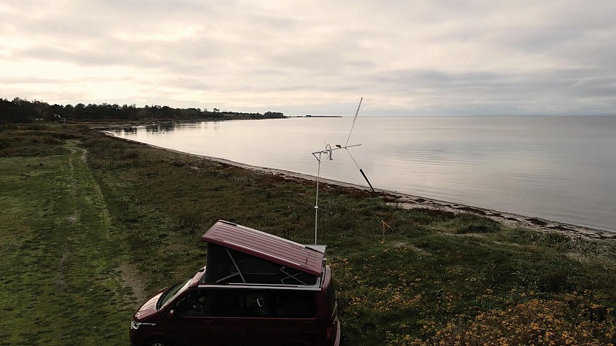 KiteX draws from looping kites to create a portable wind turbine in Denmark