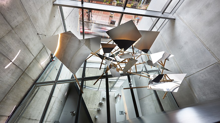 The sculptures of Lauren Henkin reimagines the architectural space with 'Props'