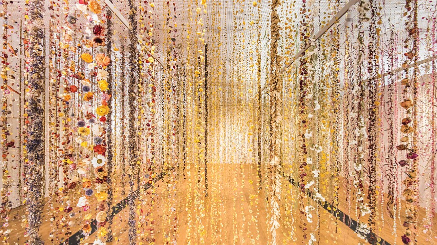 Rebecca Louise Law lends a novel touch to the display of floral beauty