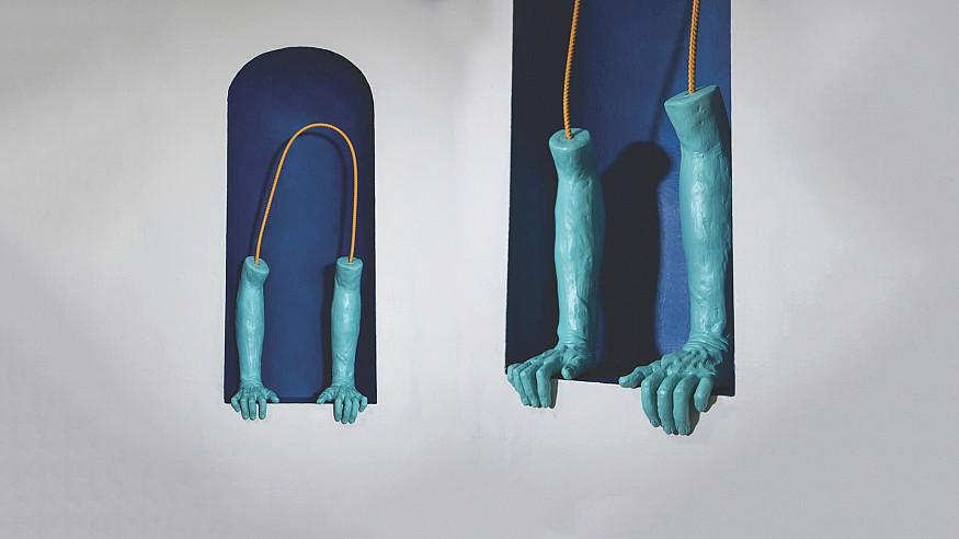 Rebecca Frantz's sculptural practice calls for binary existence in the fractured world