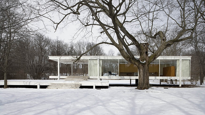 The icon of modern architecture, Ludwig Mies van der Rohe, and America