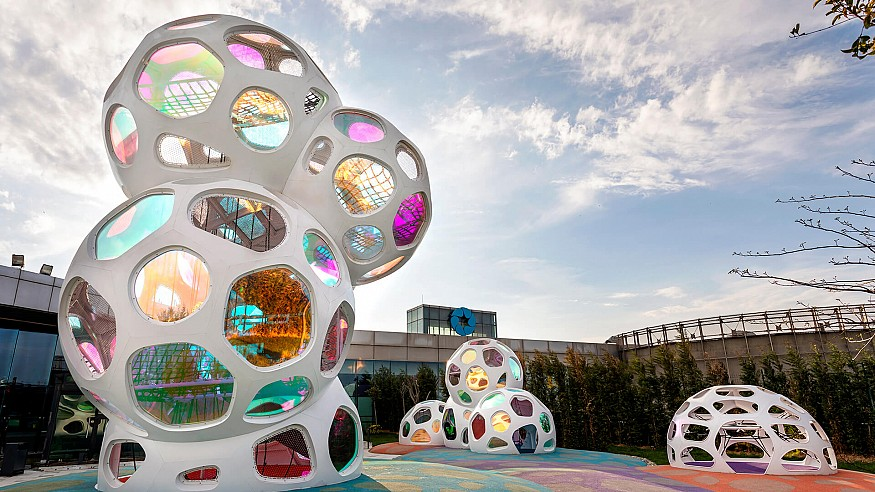 Carve studio creates modular clouds as a unique playground for children in Istanbul