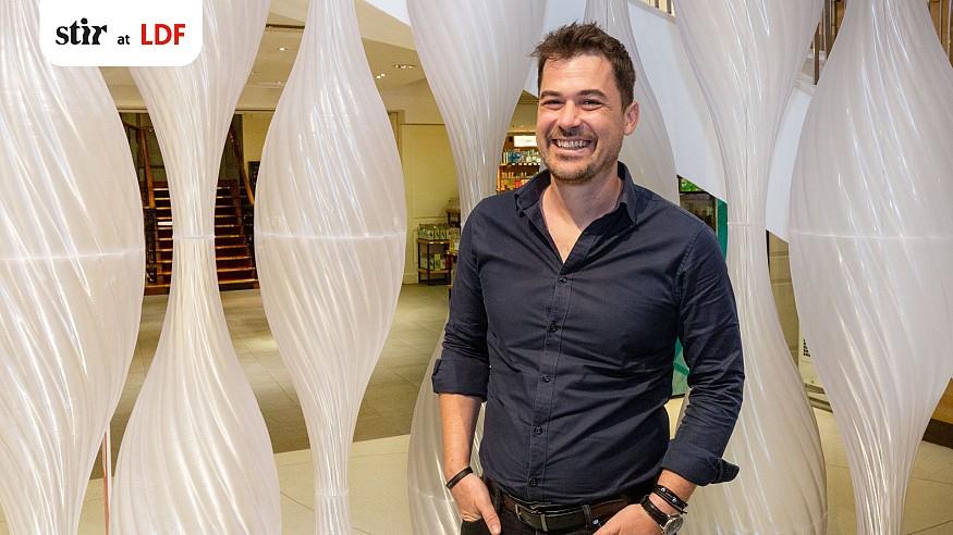 Arthur Mamou-Mani creates swirling, 3D-printed bioplastic beehives for 'Mellifera'