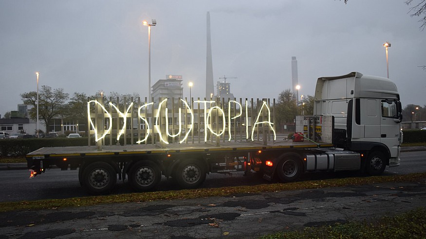 Mischa Kuball's DYS(U)TOPIA poses questions to the world STIRred by COVID-19