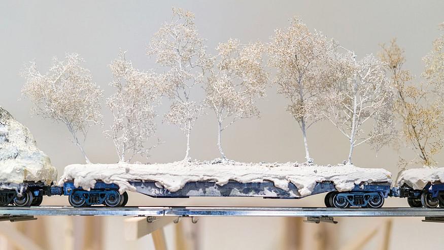 Creativity of Blane De St. Croix's expansive sculptural art meets climate science