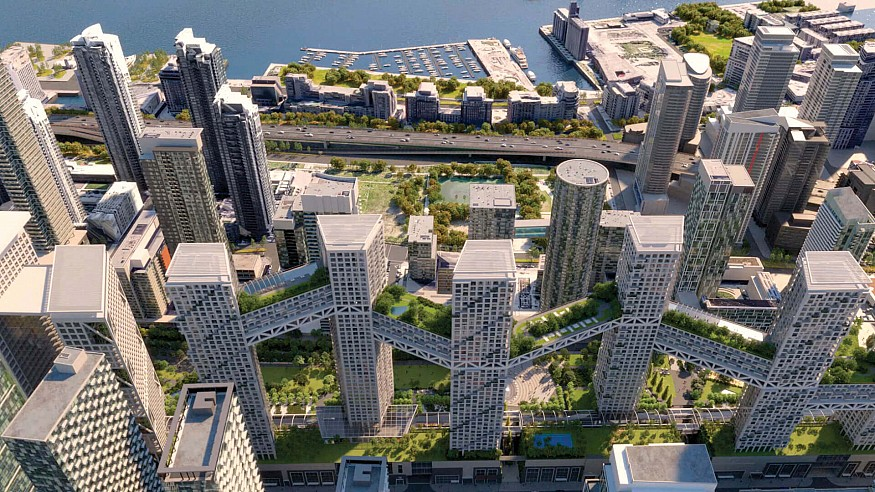 Safdie Architects' ORCA proposal envisions the new heart of Downtown Toronto