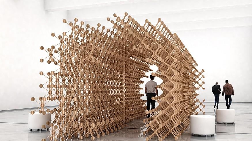Plexus by Studio Symbiosis is a parametric pavilion that can be built in 1000+ ways