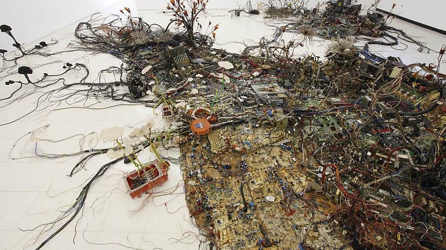 The sculptural art of Kristof Kintera gives creative expression to e-scrap