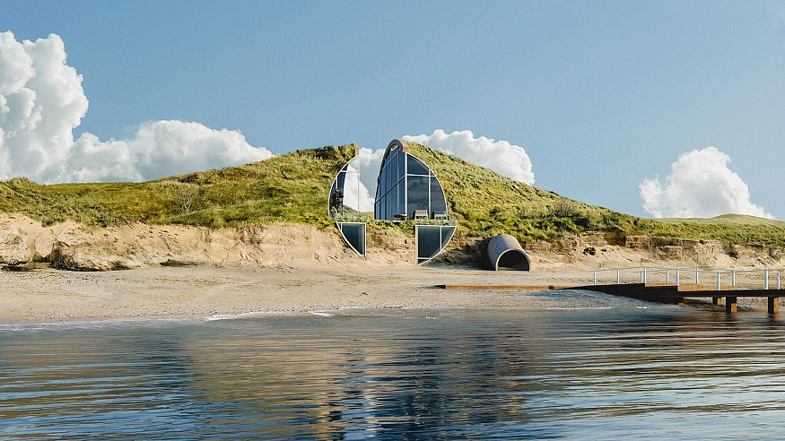 Studio Vural visualises Dune House as an 'off-the-grid' holiday dwelling in Cape Cod