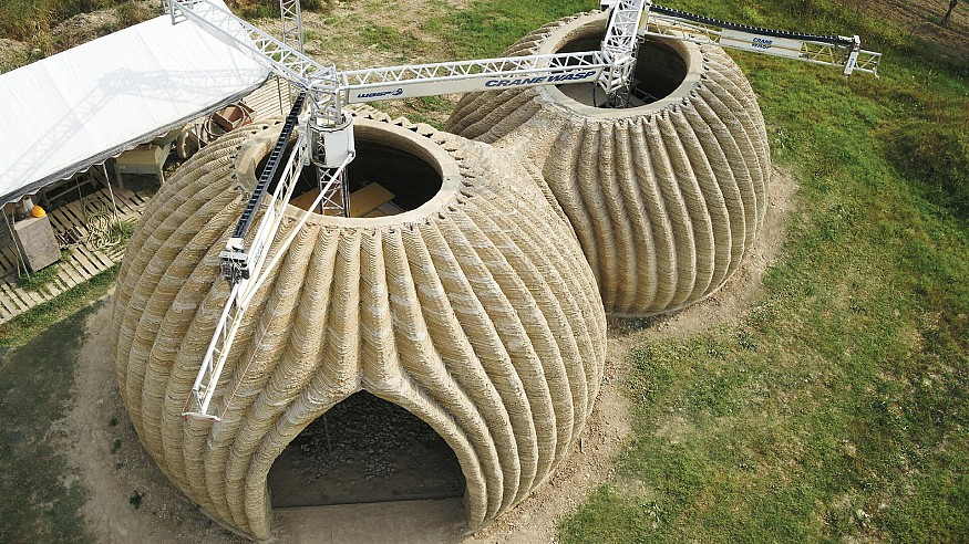 TECLA: 3D printed eco-habitat by WASP and Mario Cucinella Architects in Italy