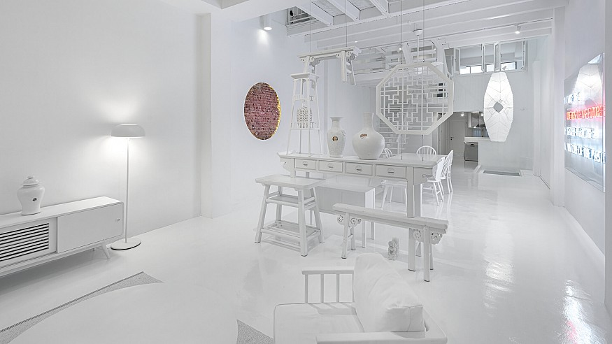 Ministry of Design's Canvas House in Singapore is an all-white co-living space