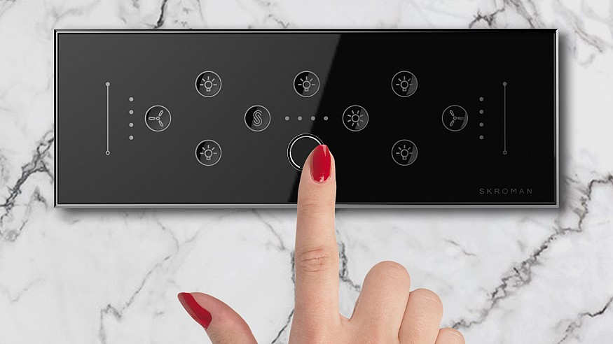 The world's first home automation switch panel with biometric access control