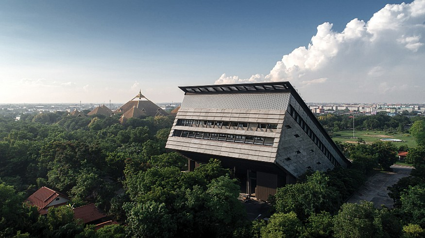 The Golden Jubilee Museum of Agriculture in Thailand emerges from the earth