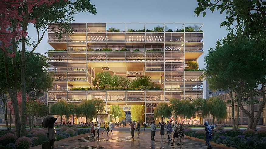 Foster + Partners to build new offices for Alibaba in Shanghai, China