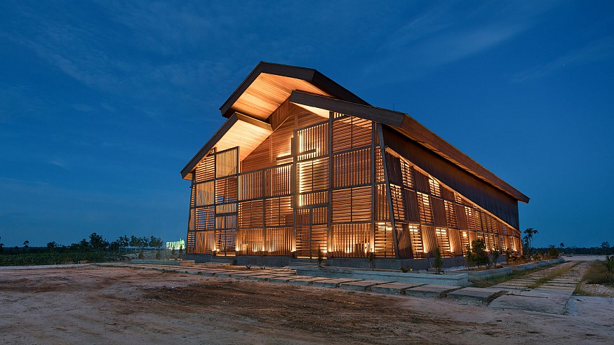 Oikumene Church: created entirely in repurposed wood by TSDS in Indonesia