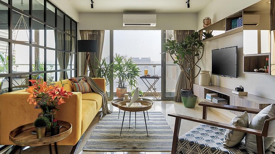 Zero9 brings a Mediterranean vibe to this Mumbai apartment