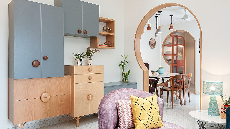 A Mumbai apartment by MuseLAB uses muted hues to exude Scandinavian charm