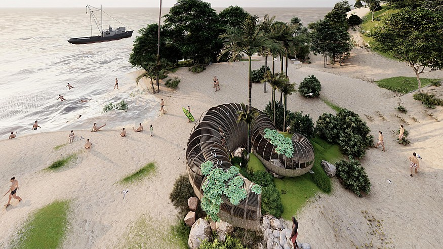The Busride Studio's design for Beach Hut in Goa bring craft and tourism together