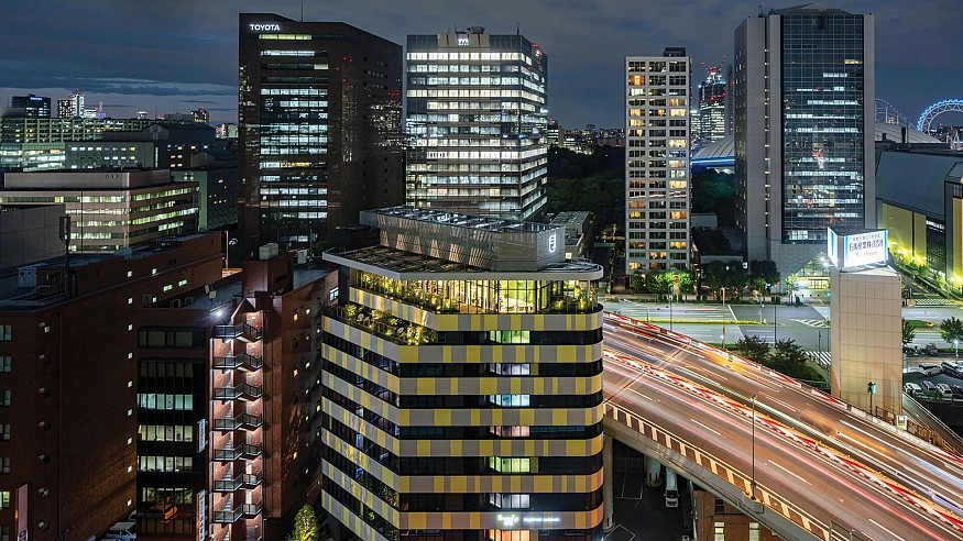 Toggle Hotel by Klein Dytham Architecture in Tokyo is a varicoloured travel haven