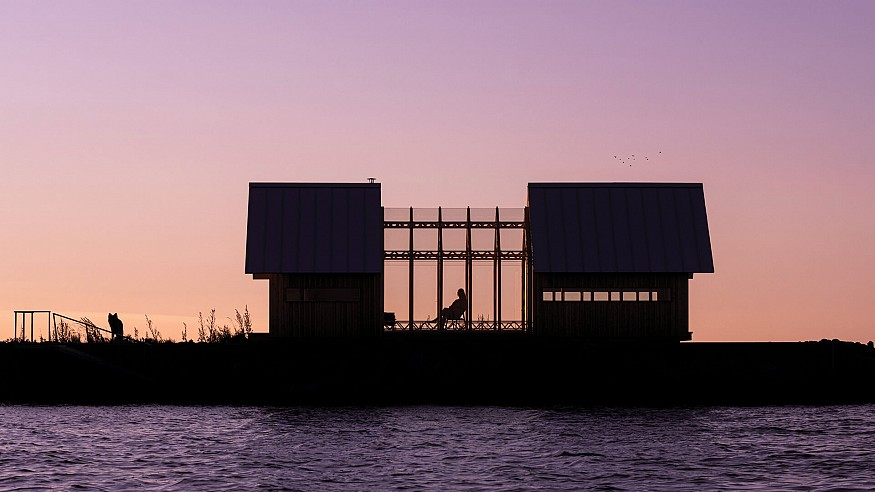 Caspar Schols develops prefab Cabin ANNA with sliding timber and glass walls