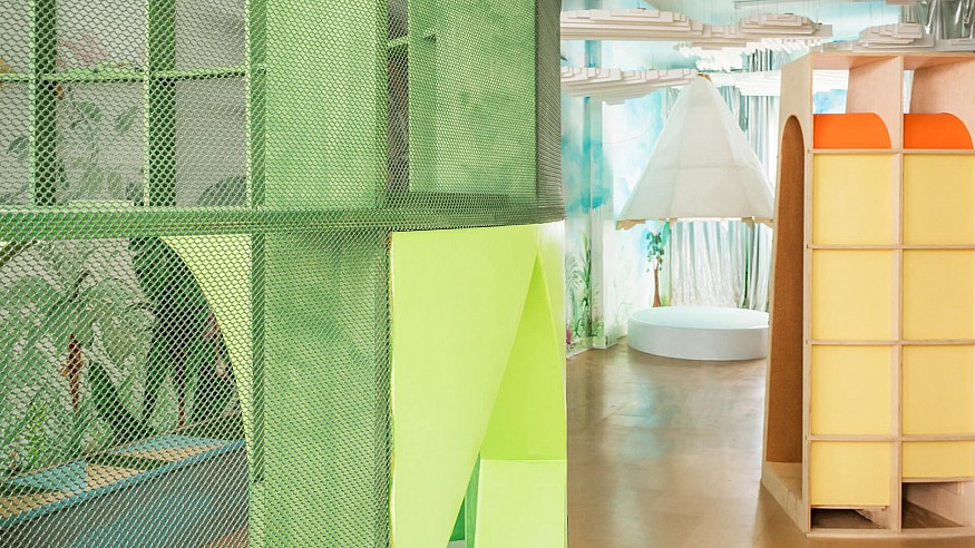 Experiential design inspires exploration in Architensions' Children's Playscape in NY
